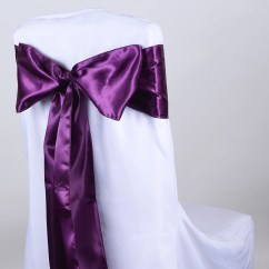 Purple Chair Sashes For Weddings Floor Protectors Wedding Bows Cheap Satin Buy Covers