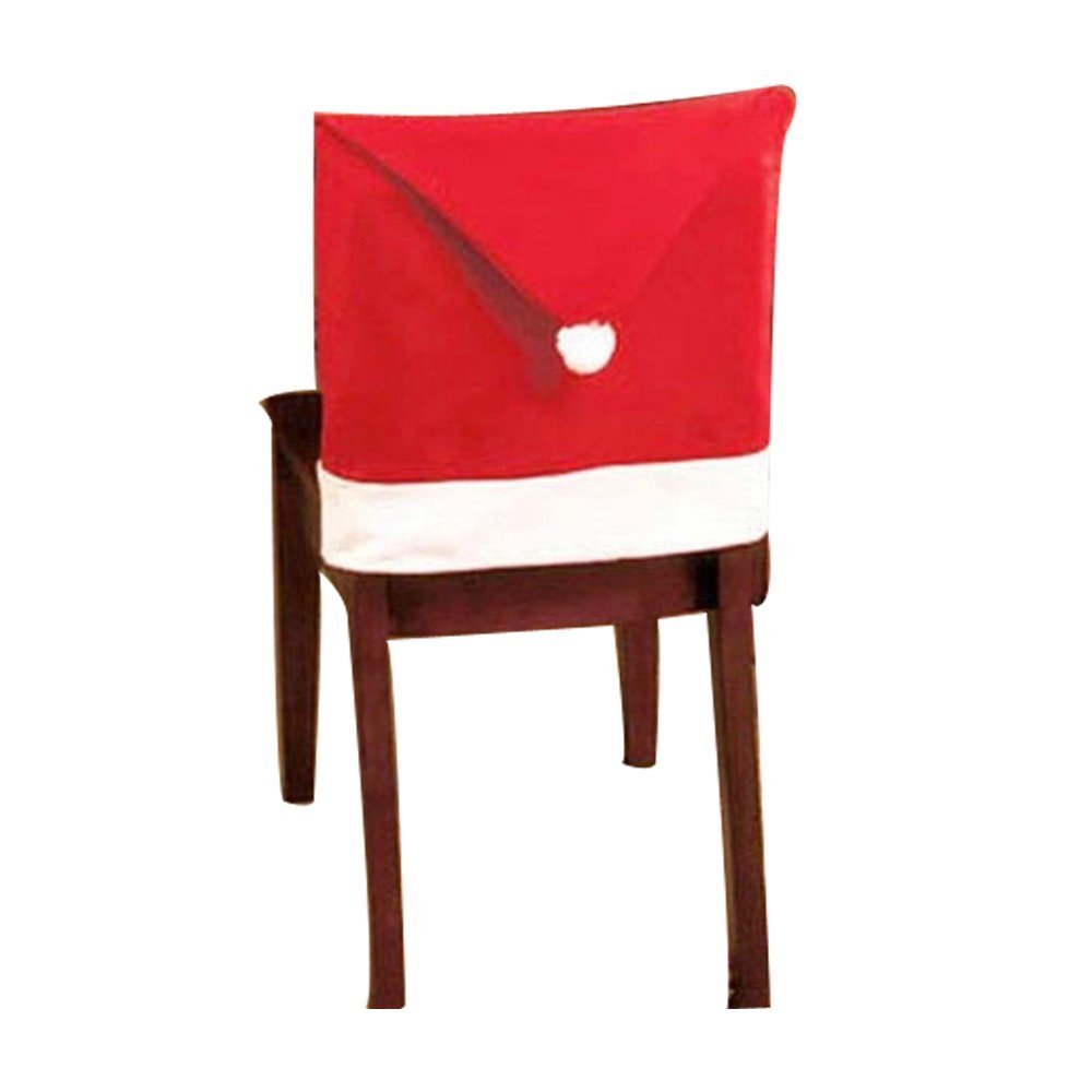 luxury christmas chair covers 100 for sale cheap dinner china sets find deals on line at get quotations sinma santa red hat 8 pcs decor decorations