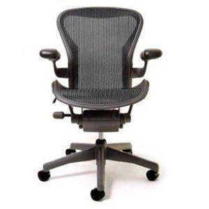 Aeron Chair Basic By Herman Miller Graphite Frame Size C