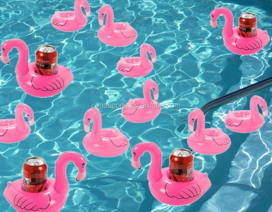 2017 Lovely Inflatable Pink Flamingo Coasters Cup Drink