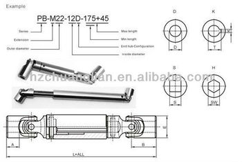 High Quality Stainless Steel Spline Shaft With Sliding