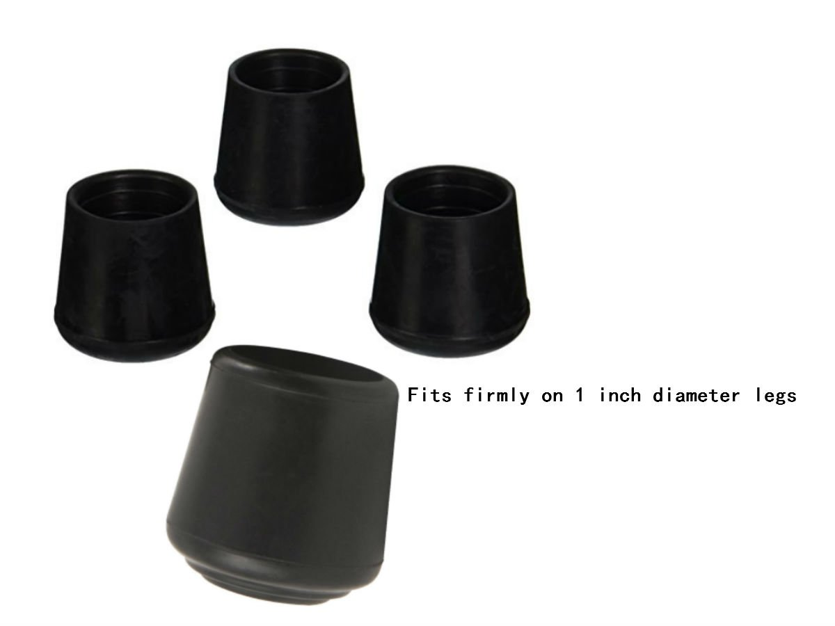 Caps For Chair Legs Buy Akoak 8 Pieces Table Chair Rubber Leg Tips Caps 1 Inch Black