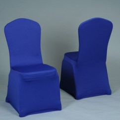 Royal Blue Chair Covers Dining Room Cheap Wedding