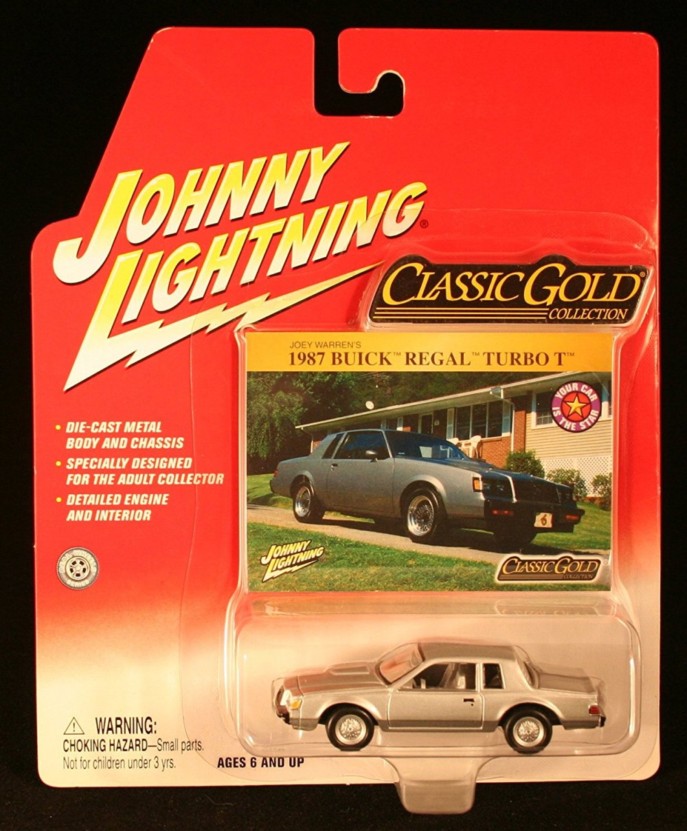 medium resolution of johnny lightning classic gold collection 1987 buick regal turbo t