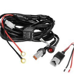 xprite 4 leg heavy duty off road atv jeep led light bar wiring harness [ 1000 x 1000 Pixel ]
