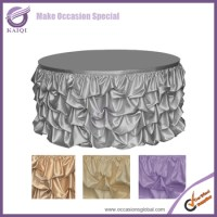 #776 Elegant Style Ruffled Design Wedding Table Skirting ...