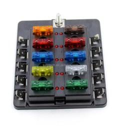universal 10 way blade circuit auto car modification 12v fuse box [ 1000 x 1000 Pixel ]