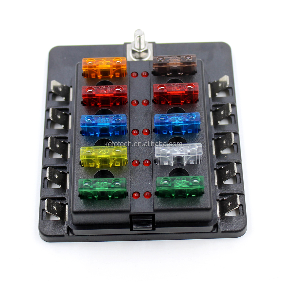 hight resolution of universal 10 way blade circuit auto car modification 12v fuse box