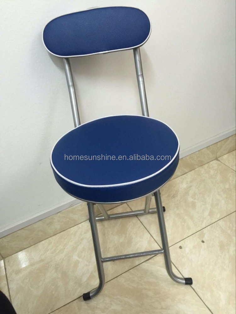 blue metal folding chairs wire mesh dining uk soft round seat chair foldable buy cheap cushions with padded