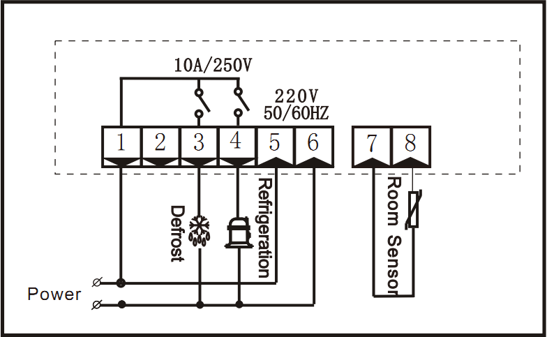 RINGDER RC-210M Digital Defrost Thermostat Temperature