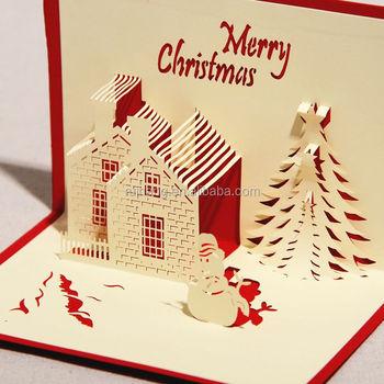 Handmade Paper Craft 3d Pop Up Christmas Card Greeting