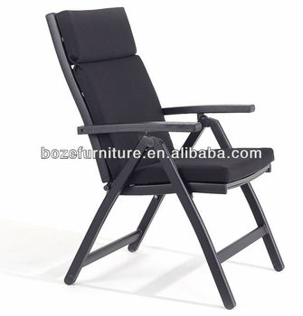 most comfortable folding chair lafuma replacement cords accessories outdoor black with waterproof cushion furniture