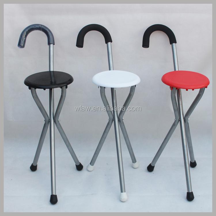walking stick chair double papasan metal frame three legs folding stool with seat buy