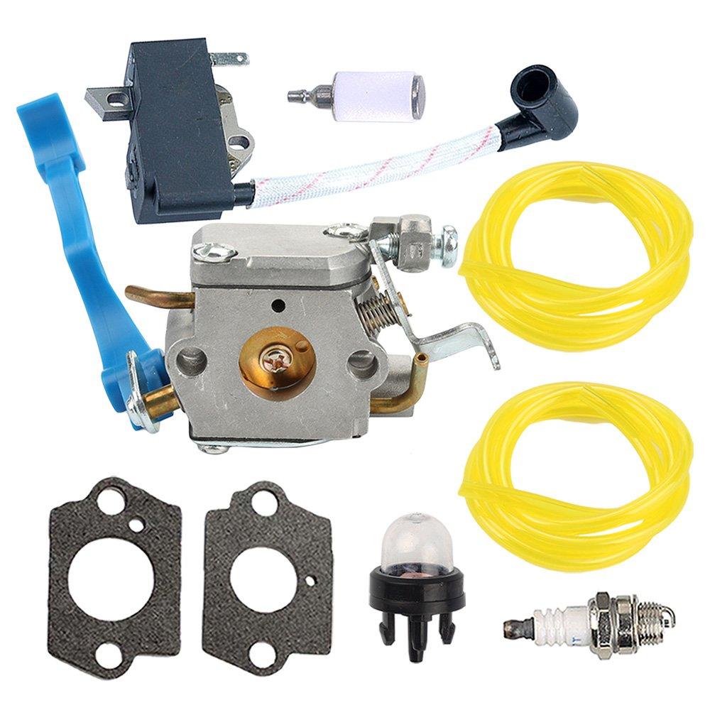medium resolution of get quotations carburetor with gasket ignition coil spark plug fuel line primer bulb fuel filter for husqvarna 125b