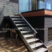 Iron Outdoor Stairs With Aluminum Double Stringer ...
