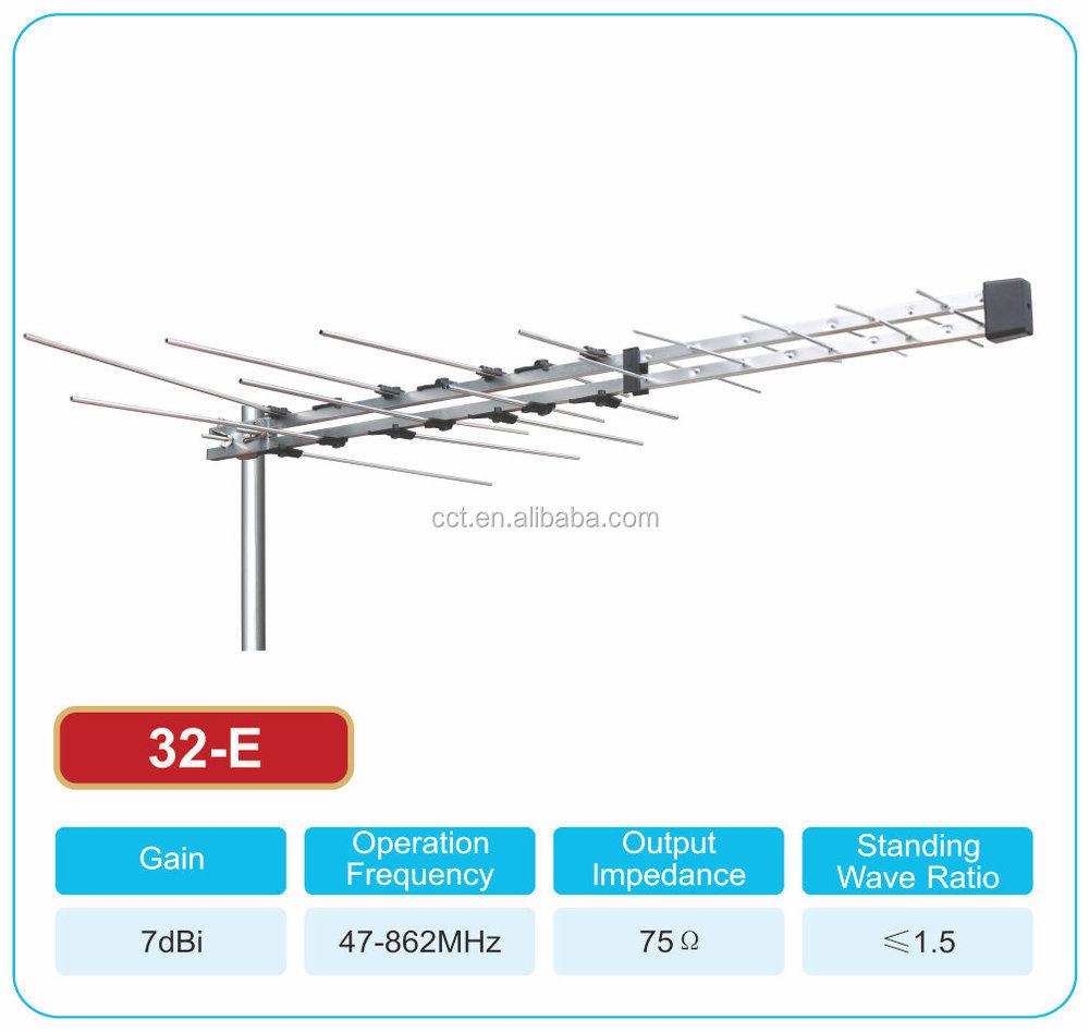 hight resolution of new tv antenna 32 element log periodic outdoor uhf vhf fm hdtv digital aerial