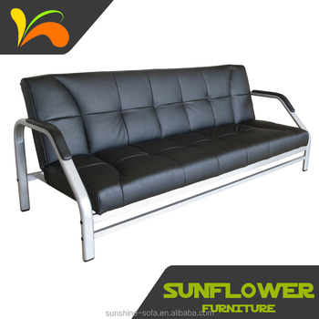 steel frame sofa como hacer funda para cama tipo libro metal futon cum bed for home office