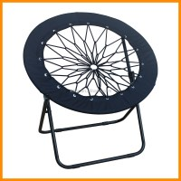Black Mesh Round Folding Bungee Chair