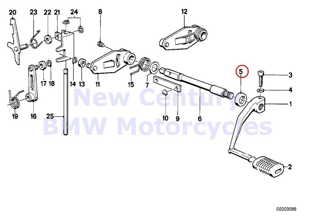 Buy BMW Genuine Motorcycle 5-Speed Transmission Shifting