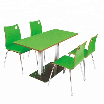 fast table chair office slipcover promotion price food set attached customized canteen furniture