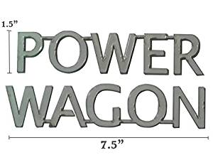 Buy 1 PAIR EMBLEM POWER WAGON FOR DODGE RAM 1500 RAM2500