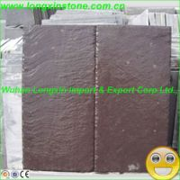 Natural Purple Color Roofing Slate Tiles For House Roof ...