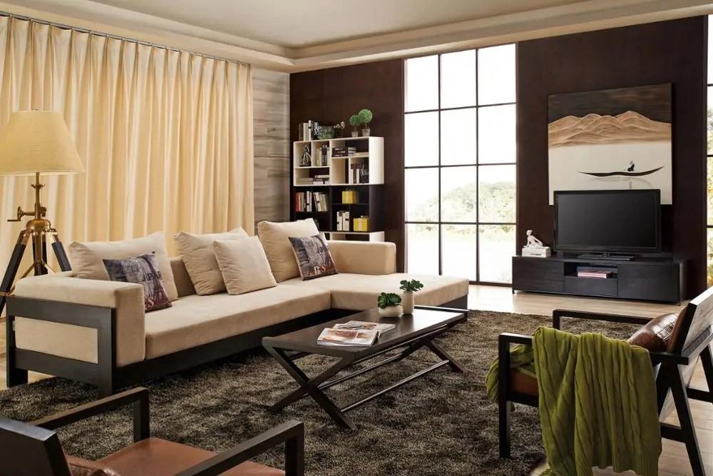 canape de salon en bois massif haut de gamme design simple offre speciale buy meubles salon canape moderne tissu meubles salon canape moderne design