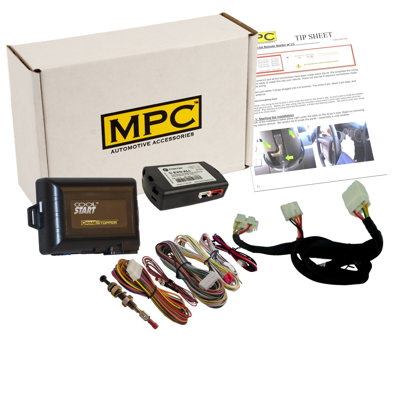 hight resolution of get quotations mpc complete add on remote start kit with t harness for 2016 2018