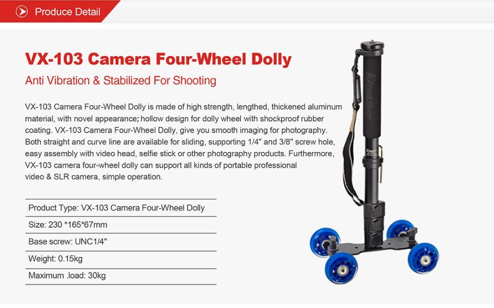 Kingjoy Vx103 Flexible 4rad Dslr Kamera Foto Dolly Fr