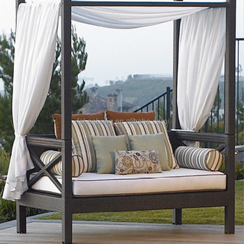 outdoor canopy chair hourglass time out patio lounge furniture daybed chaise sleeper wicker green