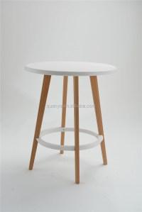 70cm High Wooden Leg Bar Table Pp Plastic Top Bar Table ...