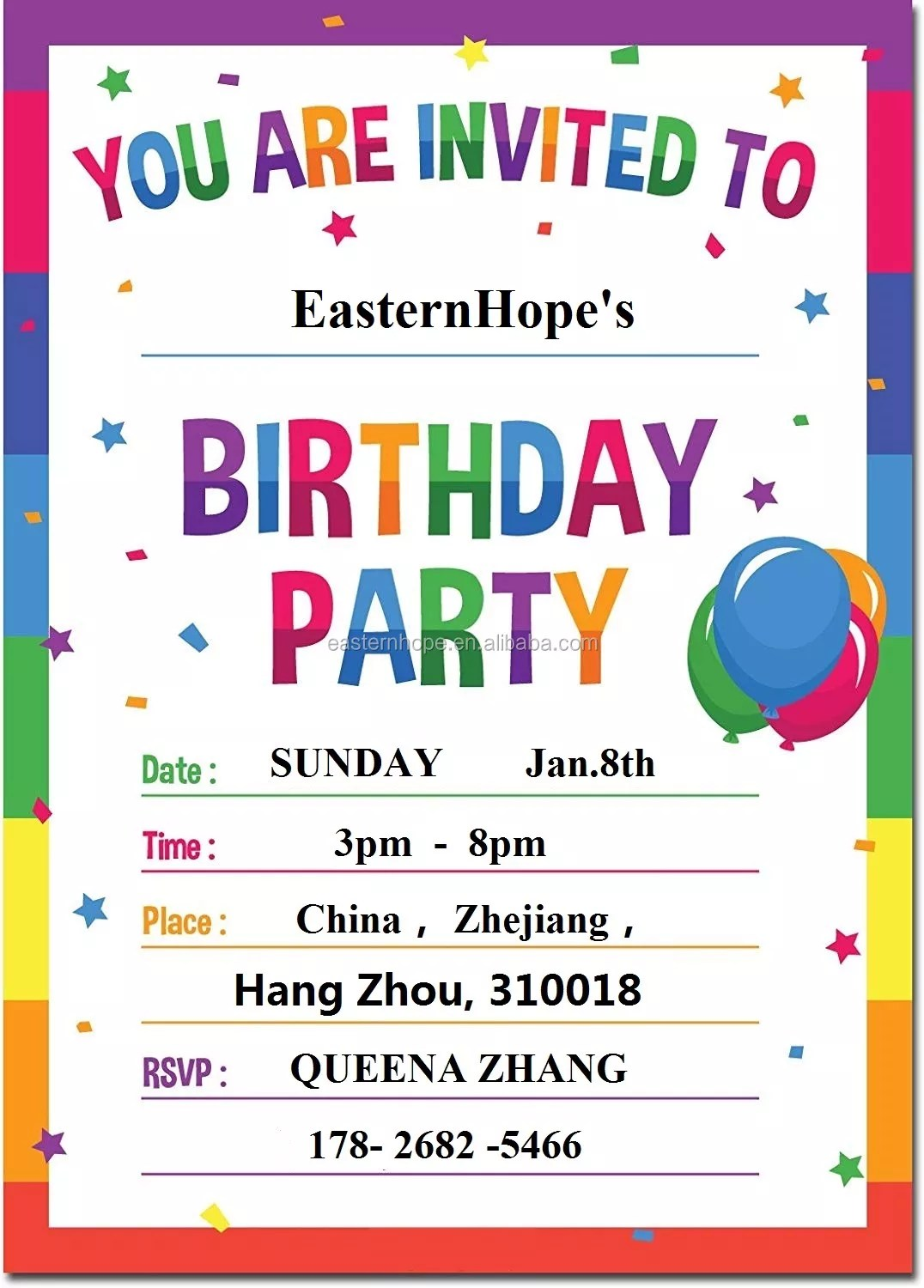 easternhope 15 pack rainbow birthday invitations cards with envelopes kids birthday party for boys or girls buy invitation cards birthday invitation