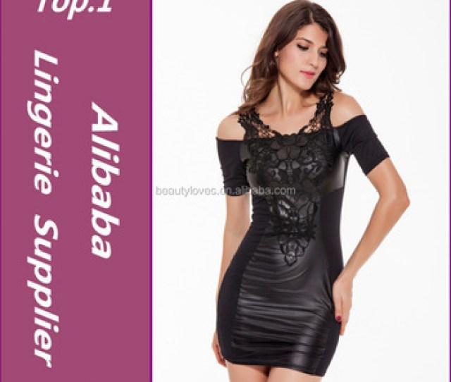 Bbw Dress Women Clothing Sexy Black Snakeskin Faux Leather Bandage Dress 2015 Summer New Pvc Bodycon