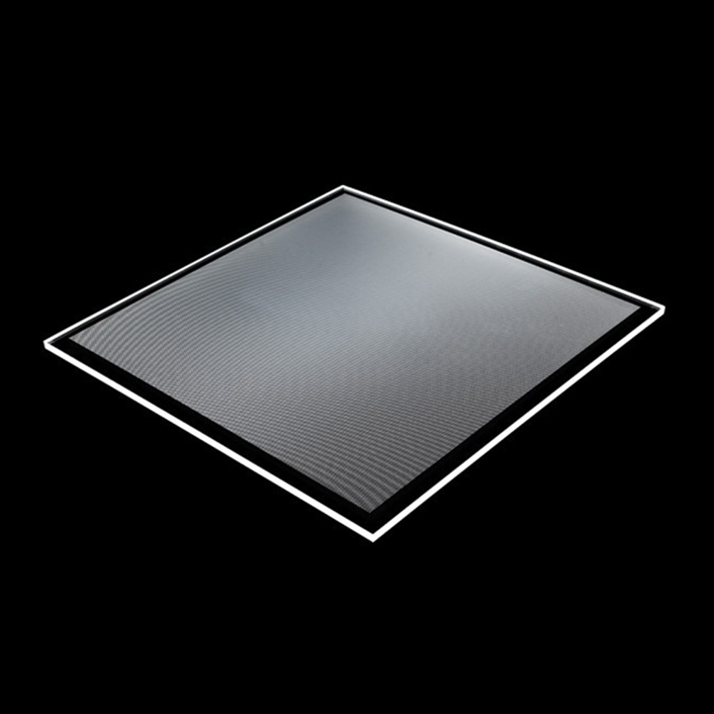 hight resolution of transparent acrylic pmma dotted led light guide panel for glass display shelf