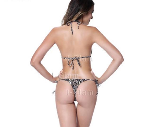 I Glam Golden Print Leopard Triangle Top With Tiny Thong Bottom Brazilian Bikini Buy Swimsuitbrazilian Bikiniswimwear Product On Alibaba Com