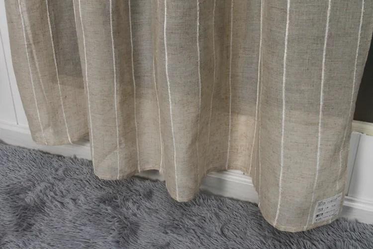 panneau de rideau a rayures verticales en faux lin kaki classique 1 piece culotte de bureau rideaux de fenetre indiens buy indian window