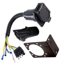trailer wiring harness adapter wiring library anderson v5414 boat trailer wiring harness adapter 7 to 4 way ebay [ 1500 x 1500 Pixel ]