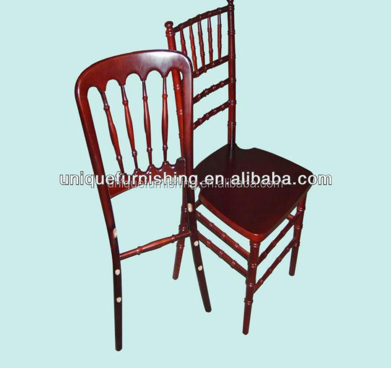Wholesale Mahogany Wood Outdoor Rental Tiffany Chair