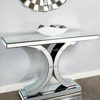 living room console tables mirrored striped chair modern double c mirror table buy