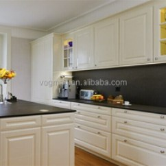Granite Kitchen Set St Charles Steel Cabinets Black Countertop White Carved Wood Doors For Sale