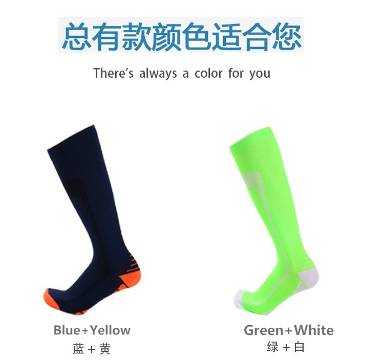 beab8610c9f298 david angie Color Socks Men Women Pressure Circulation Compression ...