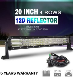 get quotations the new led light bar 12d cree 20 wiring harness super bright [ 1000 x 1000 Pixel ]