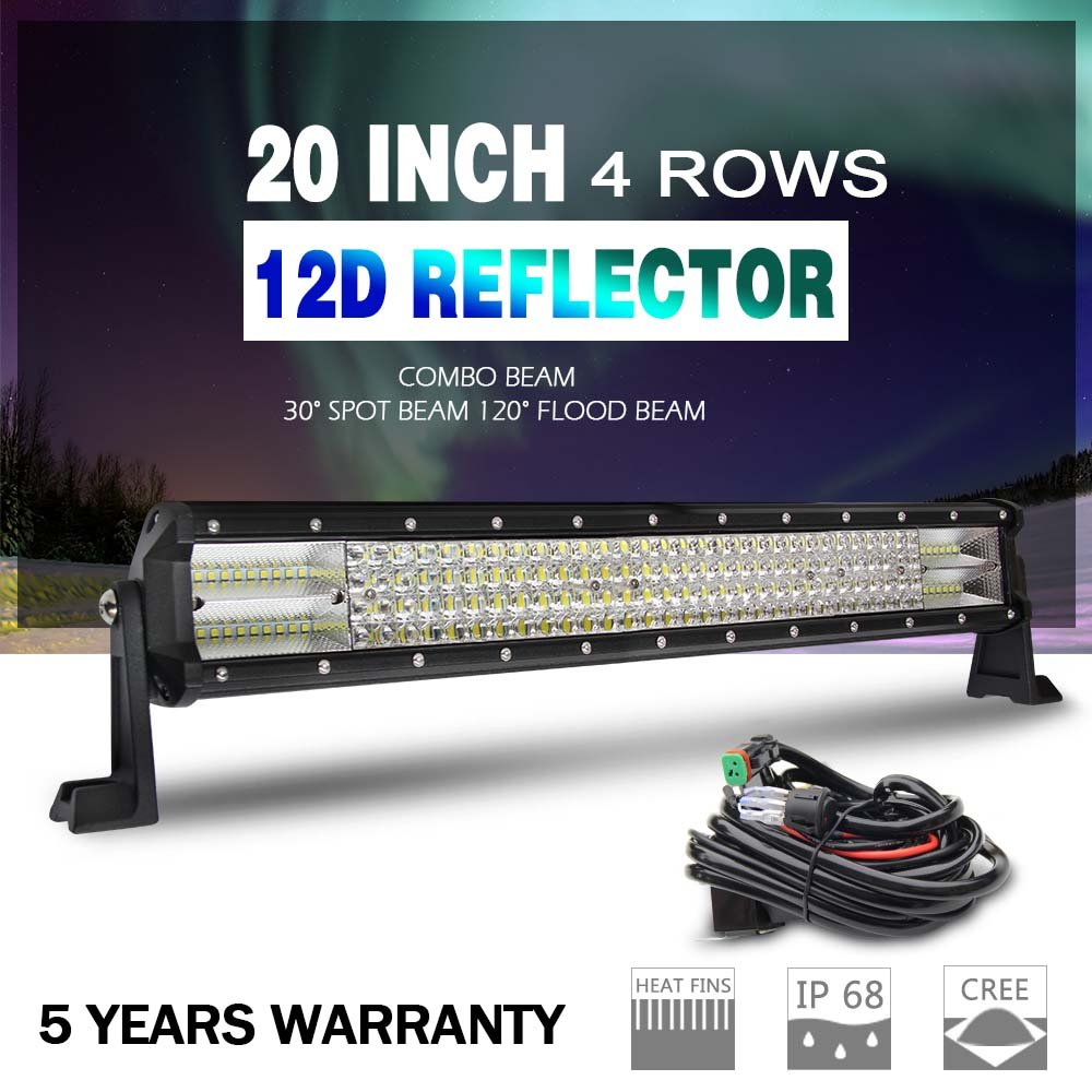 hight resolution of get quotations the new led light bar 12d cree 20 wiring harness super bright