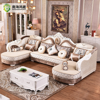 living room fabrics mirror tables european french style antique carved wooden fabric sofa furniture