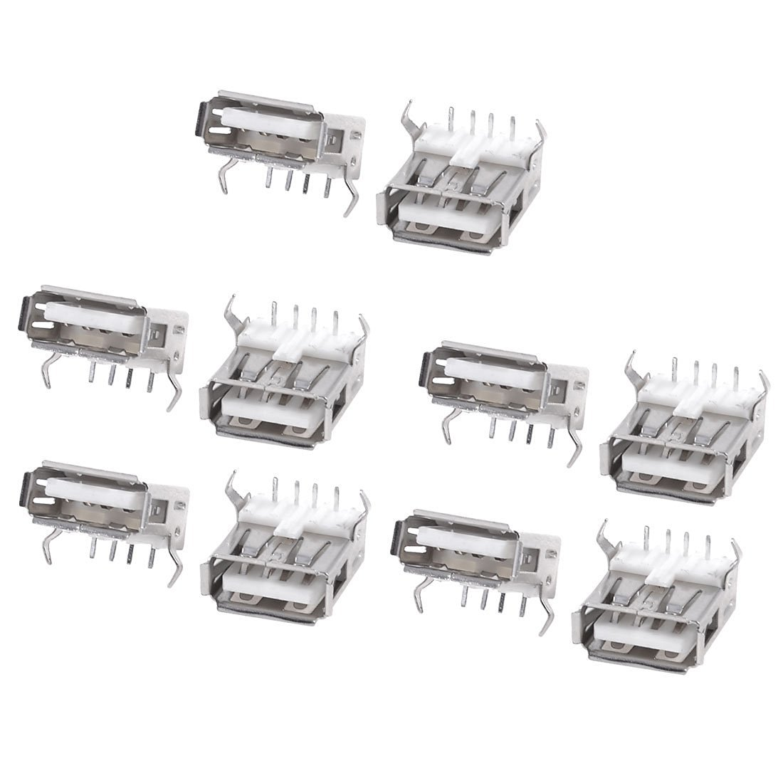 Buy SODIAL(R) 10 Pcs USB Female Type-B Port 4-Pin Right