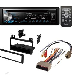 get quotations aftermarket car stereo receiver radio kit dash installation mounting trim bezel with wiring harness for select [ 1000 x 1000 Pixel ]