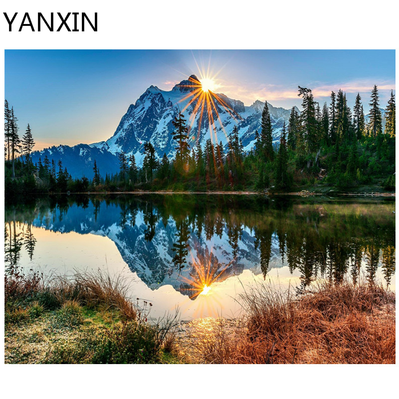 Yanxin DIY Marcos pintura por números pintura al óleo arte de la ...
