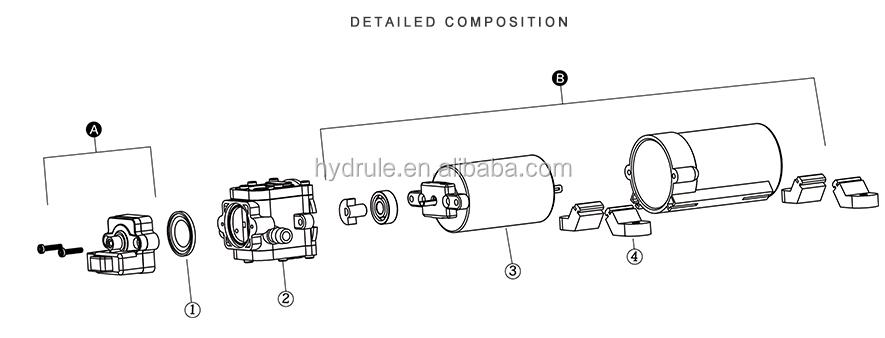 Dc 12v 70psi 2203 Diaphragm Pump/self-priming Electrical
