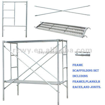 Modular Metal Frame Scaffolding With Brace And Steel