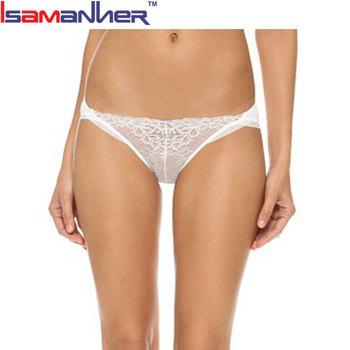 White Lace Sexy Women Wearing White Panties Hot Beauty Underwear